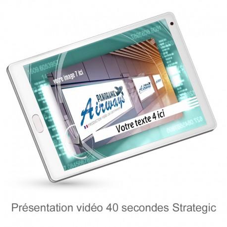 Présentation vidéo dynamique de 40 secondes Strategic