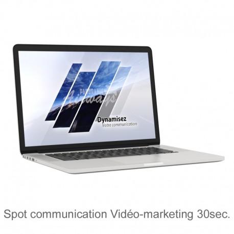 Spot de communication en Vidéo-marketing 30s.