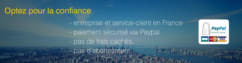 Payez votre vidéo panoramic airways avec Paypal, le paiment sécurisé