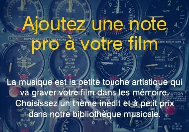 Ajoutez de la musique à votre film publicitaire personnalisé par Panoramic-Airways